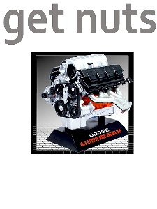 Kit Motor Dodge 6.1 SRT Hemi V8 (Escala 1:6) Kit de Montar - Hawk