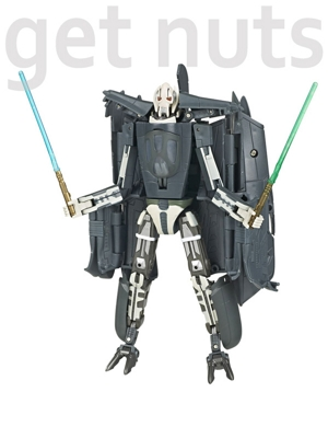Star Wars:  Transformers Crossovers General Grievous (vira Star Fighter)