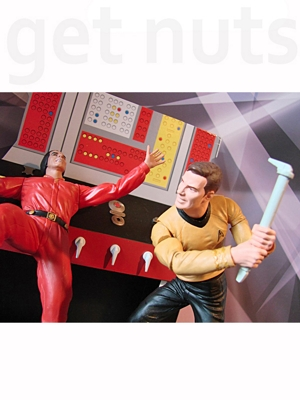 Star Trek: Capitão Kirk versus Khan (episódio Space Seed)  Figuras de Ação Marvel Select – Diamond