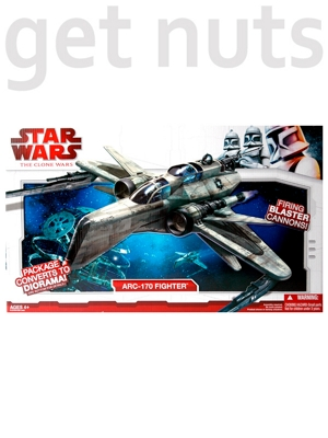 SW Clone Wars:  Arc-170 Fighter Nave - Hasbro