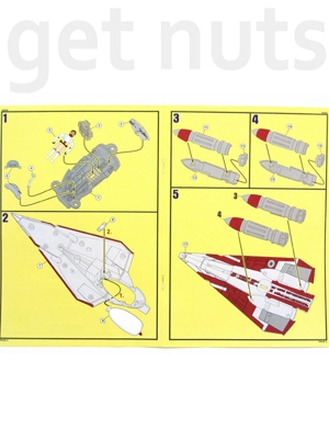 Star Wars Clone Wars: Obi-Wan Jedi Starfighter  Nave Kit p/ Montar - Revell Easy Kit