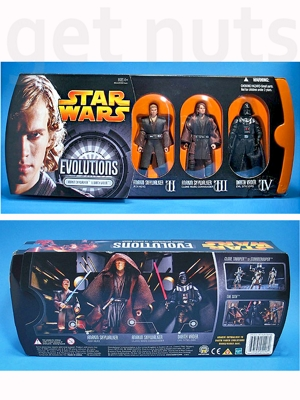Star Wars: Anakin Skywalker to Darth Vader (Série Evolutions) set com 3 figuras (9 cm) - Hasbro