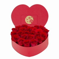 Arranjo de Rosas Colombianas Vermelhas Flower Box Heart
